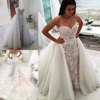 2018 Mermaid Full Lace Wedding Dresses Backless Sleeveless B...