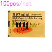 100 adet / grup BL-4D BL 4D BL4D NOKIA N97mini için 2680 mAh Altın Yedek Pil N8 E5 E7 702 T T7-00 N5 808 702 T T7 Piller