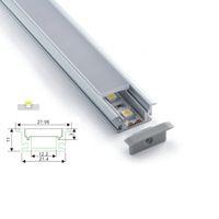 100 X 1M 세트 / 많은 Al6063 T6 지상 또는 바닥 램프 알루미늄 압출 및 두께 3mm PC 디퓨저 방수 알루미늄 프로파일 주도