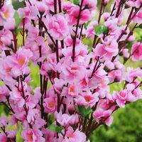 Heißer Verkauf Garten Party Dekoration Hochzeit Dekorationen Natürliche große künstliche Stoff Kirschblüten Seidenblumen Partei 5 Farbe