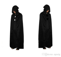 2015 HOT Halloween Costume Théâtre Prop Death Hoody Cape Cape Diable Long Tippet Cape Noir Gratuit FedEx DHL
