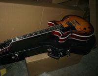 Personnalisé 12 cordes guitare gaucher guitare Sunburst corps creux jazz jazz guitare électrique livraison gratuite