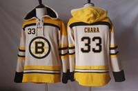 Boston Bruins Hockey Felpe con cappuccio Maglie 33 Zdeno Chara 23 Chris Kelly 37 Patrice Bergeron 77 Ray Bourque 27 Felpe con cappuccio Dougie Hamilton