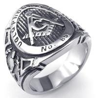 2015 год Новый 316L из нержавеющей стали литья масонства масоны организация символ кольца SZ#8-13, свободные и принятые масоны