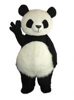 2018 venda direta da Fábrica Gigante Panda Mascot Costume Christmas Mascot Costume Frete Grátis