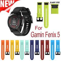 22mm عرض الرياضة في الهواء الطلق الفرقة حزام من السهل صالح حزام سيليكون watchband ل Garmin الفرقة ، سيليكون الفرقة ل Garmin Fenix 5 Fenix 5S Fenix 5X
