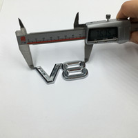 Новый 3 D Высокое качество V8 эмблема значок стикер Decal автомобиля Стайлинг Silver Для Форд Chevy