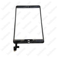 20pcs 100% nouveau panneau de verre d'écran tactile avec numériseur avec ic boutons de connecteur pour ipad mini 2 noir et blanc