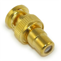 10PCS \ Lot Freeshipping Gold Plated BNC Man till RCA Kvinnlig Adapter BNC-kontakt för CCTV-system