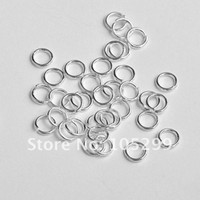 Free shipping 5MM 200pcs Sterling Silver Open Jump Ring Silv...