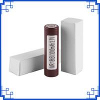 Bateria Bateria De Lítio Recarregável LG HG2 Marrom 18650 Para Caixa Ecigarette Mods 3000 mah 35A HE4 HE2 HEX 25R VTC5 Bateria Li-ion por epacket
