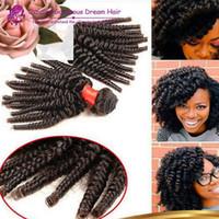 Весна curl утка 3 шт. тетя Funmi надувной Весна Curl бразильский Funmi волос лучшие продажи бразильские вьющиеся пучки человеческих волос