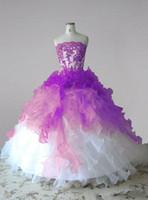 Fait sur mesure en organza robe de bal Weddding Robe bustier en dentelle élégante robe de mariée Puffy Retour lacent Retour Vestidos De Noiva