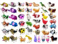 Palloncino foil di dinosauro Palloncino animale Scimmia Leone Zebra Giraffa Decorazioni per feste di compleanno Camminare Animali domestici Palloncini per elio bambini giocattolo per bambini regalo