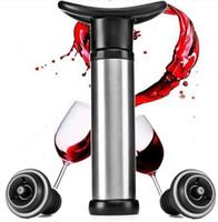 Bottiglia di vino Vacuum Pump Sealer Preserver Saver con 2 pulsanti di spinta Wine Stop Vacuum Wine Saver Home Kitchen Bar Accessorio per utensili Portatile