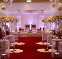 Nein, einschließlich der Vase an der Spitze, Kristallpfeiler für Hochzeitsgang dekorativ, Hochzeitsmall zum Verkauf