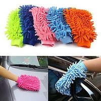 Super Mitt Microfiber Car Wash Washing Cleaning Glove New H2...