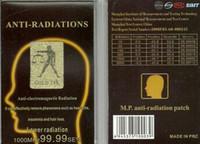 Anti-straling sticker goud 24k voor mobiele telefoons 200pcs / lot opp zak pakket