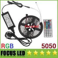 RGB KIT 5050 LED 스트립 라이트 5M 300LEDS 유연한 LED 리본 조명 방수 + 44KEYS IR 원격 제어 + 12V 6A 전원 공급 장치