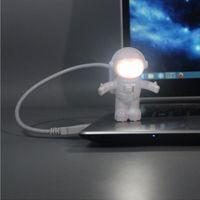 우주 비행사 / 우주 비행사 LED 나이트 라이트 USB 책상 램프 컴퓨터 PC / 키보드 유연한 책 빛 친구 ZA1355를위한 최고의 선물