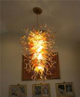 Moderne Grand pendentif en cristal Lampes style européen Ambre en verre de Murano Lustre pour Hôtel Décoration Haute Qualité, LR1118