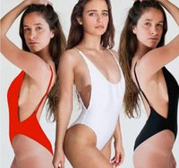 NEW Women One- Piece Swimsuit Sexy Sexy Solid Beach Spa Bikin...