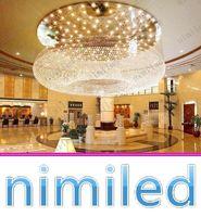 Nimi1014 Dia 60-100cm круглый отдел продаж лобби отеля хрустальная люстра Вилла LED гостиная огни клуб крупные проекты подвесная лампа