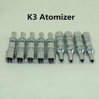 Новые K3 воск атомайзер стеклянный бак сухой травы испаритель vape mod замена катушки для Ecigarettes eGo T evod vision spin 510 батареи ecig