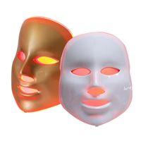 Envío gratis 7 colores fotón PDT LED máscara facial azul verde rojo terapia de luz dispositivo de belleza para el rejuvenecimiento de la piel eliminación de arrugas