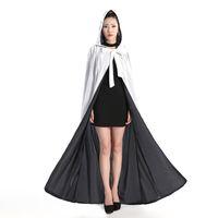 Yeni Varış Ucuz Kadife Kapüşonlu Cloaks Kış Düğün Pelerinler Wicca Robe Sıcak Noel Uzun Gelin Sarar S-6XL