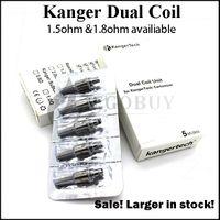 Sostituzione delle testine Dual Coils potenziate da Kanger 0.8 1.0 1.2 1.5 1.8ohm per Genitank giant ii mini Protank3 Aerotank Mega EVOD pro t3d topevod