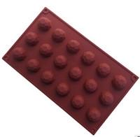 18 furos gemas molde do bolo de chocolate molde de sabão de silicone flexível para sabonete artesanal vela doces bakeware moldes de cozimento cozinha ferramentas moldes de gelo