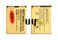 2 adet / grup BL-4D BL 4D BL4D NOKIA N97mini N8 için 2680 mAh Altın Yedek Pil N8 E5 E7 702 T T7-00 N5 808 702 T T7 Piller Batteria Batterie