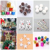 10 Styles Christmas Tree Decorations Pine nuts Balls Bells C...