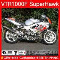 Honda VTR1000F SuperHawk 97 Silvery Red 98 99 00 01 02 03 04 05 91NO16 VTR 1000F 1997 1997 1997 1997 2004 2004 2004 2004年