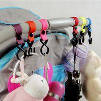 New Plastic Baby Stroller Pushchair Car Hanger 2 Hooks Strap...