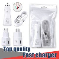 Wall Charger Set 2A For Samsung US EU Car Charger Travel Ada...