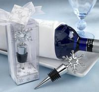 Metallschneeflocke-Wein-Flaschen-Stopper-Hochzeitsbraut-Babyparty-Bevorzugungs-Geschenke Partei-Dekorations-Geschenk Bix Pakcaging DHL geben Verschiffen frei