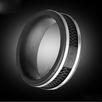 Fashion Black color rings, Women   Mens Titanium stainless s...