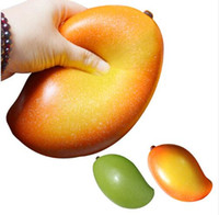 Artificial Squishy Mango Shape Slow Rising Relieves Stress A...