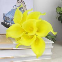 Nouvelle Arrivée Couleurs 48p Latex Real Touch Simulation artificielle Fleur Calla Lily Callas pour Bridal Bouquet Centerpieces Accueil Décoration