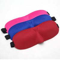 3D 휴대용 아이 마스크 소프트 트래블 슬리프 레스트 보조 커버 커버 슬리핑 케이스 9 가지 색 눈 가리개 색조 건강 관리