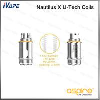Aspire Nautilus X U-Tech Bobines 1.5ohm 100% d'origine Aspire X U-Tech Bobines de remplacement pour Aspire Nautilus X atomiseur Nautilus X