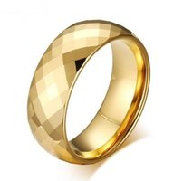 Trouwring Topkwaliteit Facet Goud-Kleur Bruiloft Sieraden Merk Design Mens Ring Geschenken Tungsten Ring voor Mannen Maat 7-13 Hot Sale!