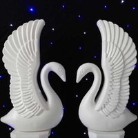 New Arrival 2pcs White Swan Wedding Roman Column Party Welco...