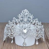 Crown Tiaras Accesorios de boda Joyería de boda Crystal Precio barato Estilo de moda Novia Accesorios para el cabello Joyería HT137