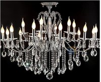 D1100mm 18L Large crystal chandelier 18 Arms Luxury crystal ...