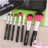 new hello Kitty lovely makeup brush suit 7 iron box cartoon ...