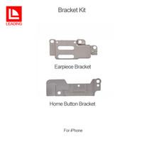 Alta calidad para iPhone 5 6 6 plus 6s 6s plus 7 7p Soporte de botón de inicio Metal Holder + Earpiece Ear Speaker Bracket