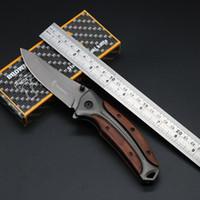 Browning DA58 Тактический складной нож для складывания 3CR13MOV 55HRC Деревянная ручка Titanium Охота на выживание Карманные Утилита для выживания Спасение Спасательная Утилита коллекции Ручной Инструменты